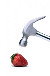 hammer and strawberry full sized