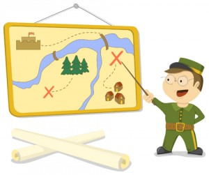 plan of attack cartoon soldier