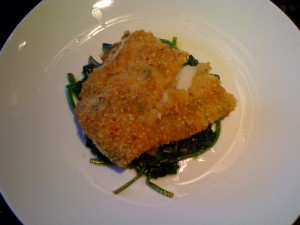 baked cod with lemon garlic spinach