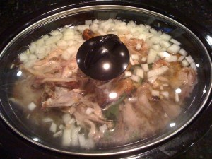 roasted chicken in crockpot