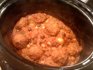 north african meatballs in crock pot