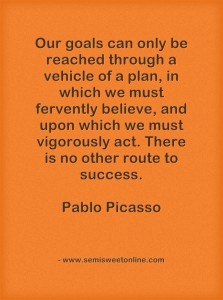 Picasso Goals Quotation